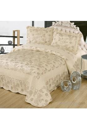 Cotton House Home Collection Nubuk Safir Çift Kişilik Yatak Örtüsü - Krem