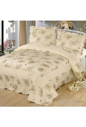 Cotton House Home Collection Nubuk Elita Çift Kişilik Yatak Örtüsü - Krem