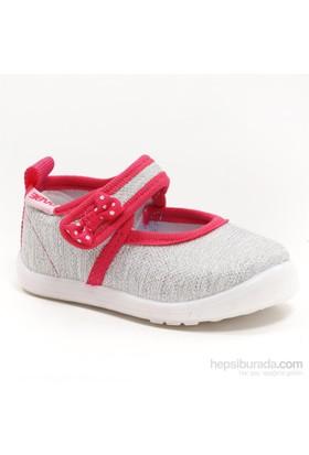Sanbe Kız Çocuk Keten Ayakkabı - 401 H 024 Lame