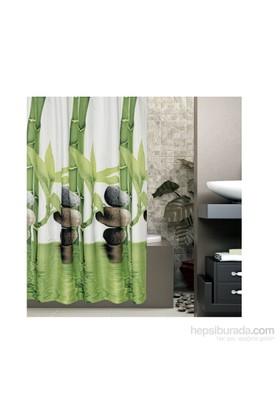 Tropik Çift Kanat Banyo Perdesi