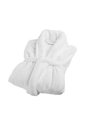 Osmanlı Tekstil L Beden Şalyaka Bornoz Beyaz