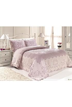 Casandra Dreams Lotus Lavender Çift Kişilik Yatak Örtüsü