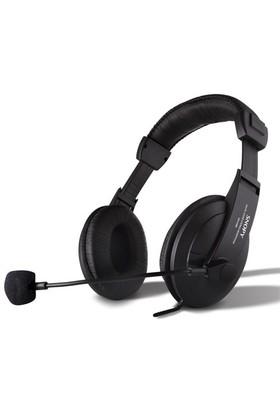 Snopy SN-4388 Prof. Deri Mikrofonlu Kulaküstü Siyah Kulaklık