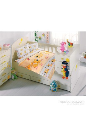 Altınbaşak Ranforce Sevimli Bebek Nevresim Takımı Sarı