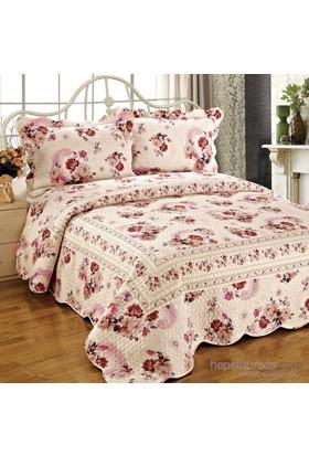 Cotton House Home Collection Daymond Çift Kişilik Yatak Örtüsü - Safir / Azelya