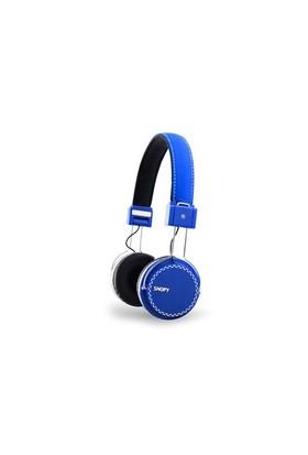 Snopy Sn-A7 Mobil Telefon Uyumlu Rubber Mavi Mikrofonlu Kulaklık
