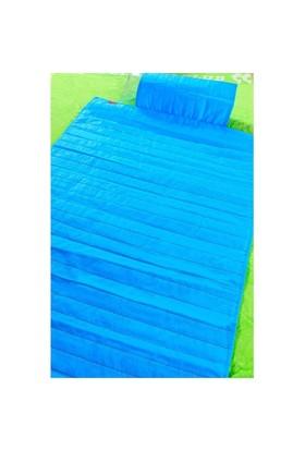 Seryat Plaj Hasırı ve Çantası Mavi