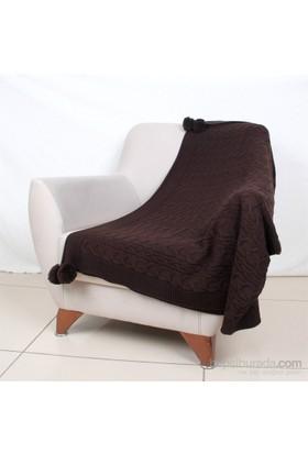 Betireshome Örgü Battaniye Kahverengi