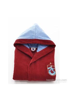 Trabzonspor Çocuk 10-12 Yaş Pamuk Bornoz