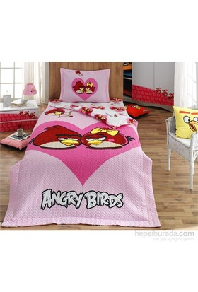 Angry Birds 4 Mevsim Tek Kişilik Complete Set Pembe