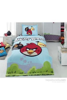 Angry Birds 4 Mevsim Tek Kişilik Complete Set Mavi Yeşil