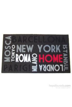 Giz Home İtalyan Kokardo Kapı Paspası 40X68 Şehir