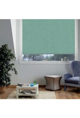 Taç Polyester Işık Geçirmez Blackout Karartma Stor Perde Yeşil 100X200 Yeşil