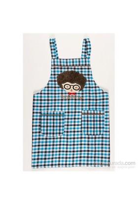 I Love Home Gözlüklü Önlük Mavi