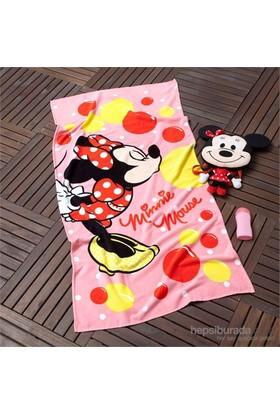 Disney Minnie Ballonet Pamuk Plaj Havlusu