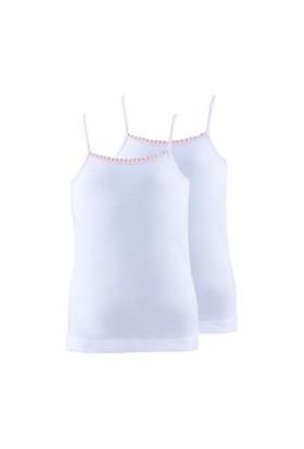 Blackspade Kız Çocuk Atlet 2Li Paket 1296 Beyaz