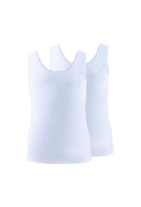 Blackspade Kız Çocuk Atlet 2li Paket 1297 Beyaz
