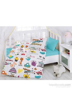 Cotton Box Bebek Nevresim Takımı Mutlu Bebek Beyaz