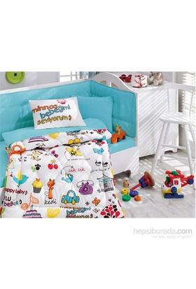 Cotton Box Bebek Uyku Seti Mutlu Bebek Beyaz
