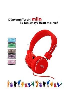 Mila Ml-X7-Red Mıla X7 Serisi Universal Telefon & Pc Uyumlu Kulaklık Mikrofonlu