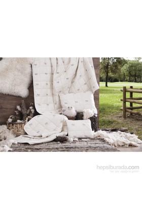 Hibboux 195x215 Wooly Çift Kişilik Yün Yorgan 300 gr/m2
