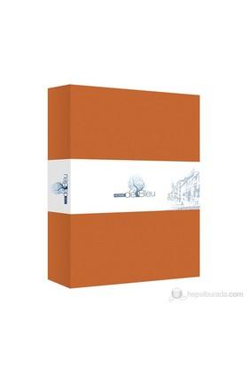 Home De Bleu Ranforce Lastikli Çift Kişilik Çarşaf - 160X200 Cm Oranj