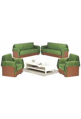 Mandaş Şönil Maxi Koltuk Örtüsü-Yeşil