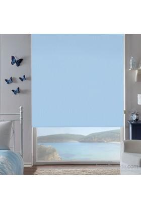 Taç Inova Kendini Temizleyen Mat Polyester Stor Perde Mavi