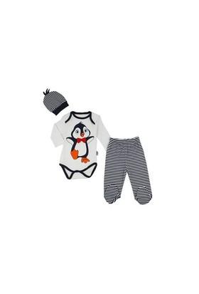 By Leyal For Kids Penguenli Body-Şapka-Pantolon Takım- 2557