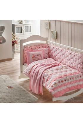 Taç Battaniyeli Sweet Bird Kırmızı Bebek Uyku Seti