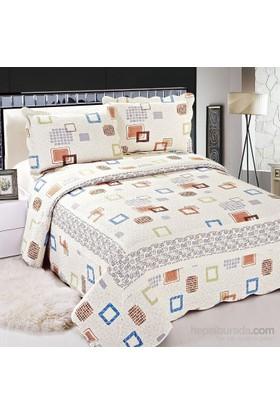 Cotton House Home Collection Pamuklu Çift Kişilik Yatak Örtüsü - Domino