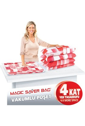 Magic Vakumlu Poşet Hurç 4'Lü Set