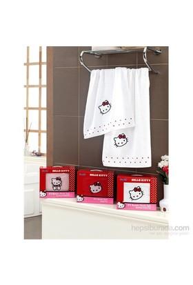 Hello Kitty 2'Li Bambu Havlu Beyaz