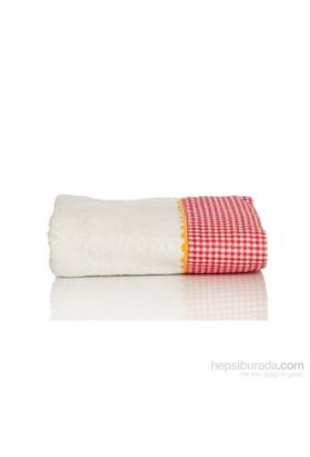 Yastıkminder Koton Beyaz Aplikeli 50X70 Havlu