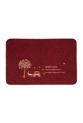 Giz Home Nakışlı/Brode Kapı Paspası 40X60 Kırmızı At Arabası