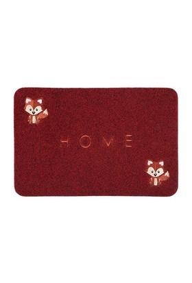Giz Home Nakışlı/Brode Kapı Paspası 40X60 Kırmızı Tilki
