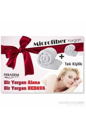 Feradem Tek Kişilik Microfiber Yorgan 1 Alana 1 Bedava