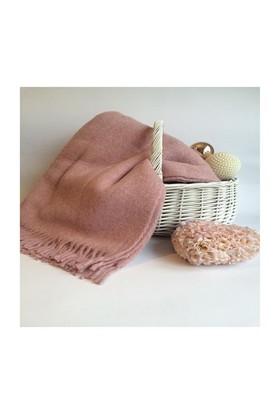 Mella Home Wool Battaniye-Pudra Pembe