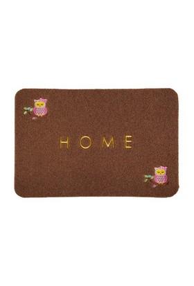 Giz Home Nakışlı/Brode Kapı Paspası 40X60 Kahve Baykuş