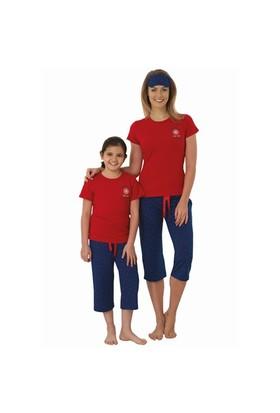 Şık Mecit 3118 Kız Çocuk Modal Kısa Kollu Capri Pijama Takımı