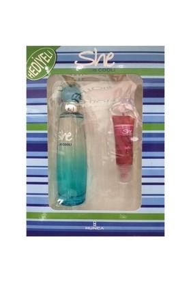She İs Cool 50 Ml Edt + 11Ml Lipgloss - Bayan Parfüm Set