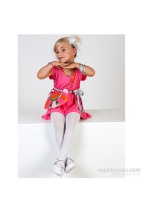 Pierre Cardin Mikrofiber Çocuk Külotlu Çorap Aida Beyaz