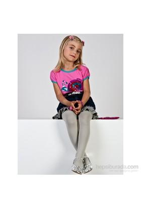 Pierre Cardin Mikrofiber Çocuk Külotlu Çorap Aida Gri