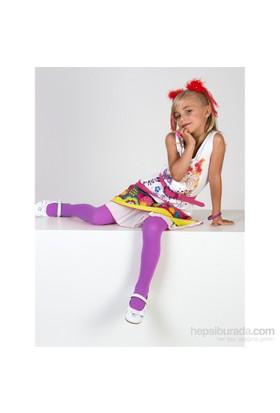 Pierre Cardin Mikrofiber Çocuk Külotlu Çorap Aida Lila
