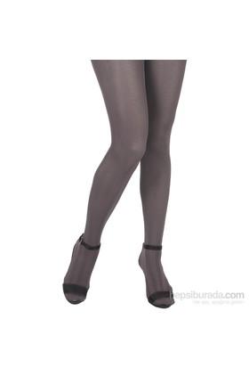 Pierre Cardin Desenli Külotlu Çorap Ros Gri