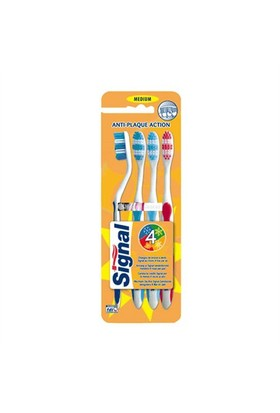 Signal Anti-Plaque Action 4Lü Diş Fırçası