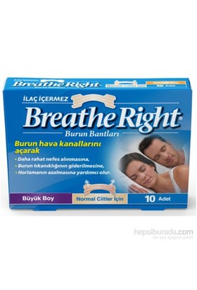 Breathe Right Burun Bandı Klasik Büyük Boy 10'lu