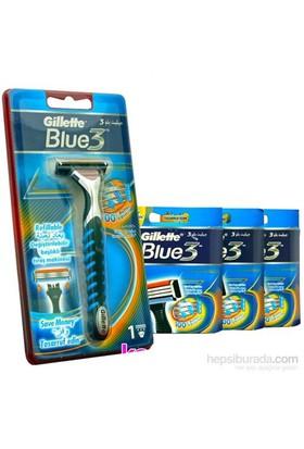 Gillette Blue 3 Tıraş Makinesi +Blue 3 Yedek Başlık 19 Adet