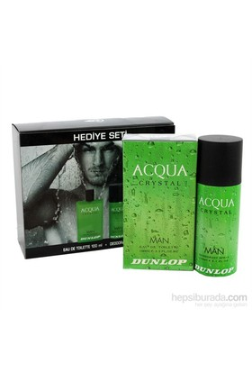 Dunlop Parfüm Aqua Crystal 100Ml.+Deodorant Aqua 150 Ml.Erkek Set