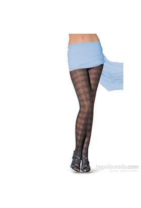 Pierre Cardin Desenli Külotlu Çorap Eleta Kadın Siyah